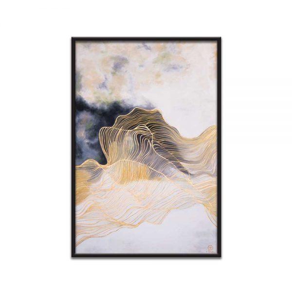 تابلو نقاشی هنر طلایی تولیکا