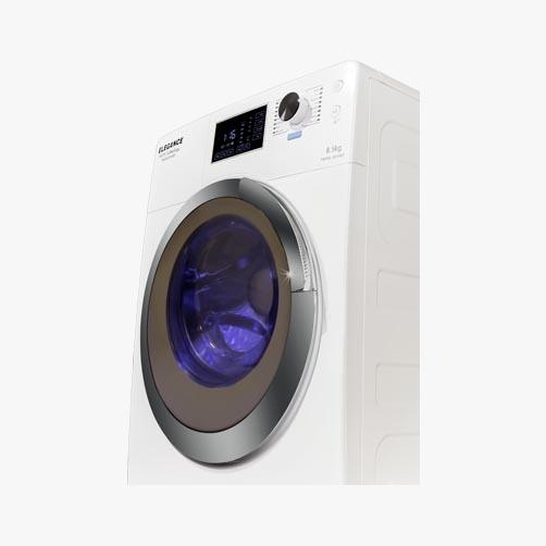 ماشین لباسشویی تمام اتوماتیک سفید مدل 12008
